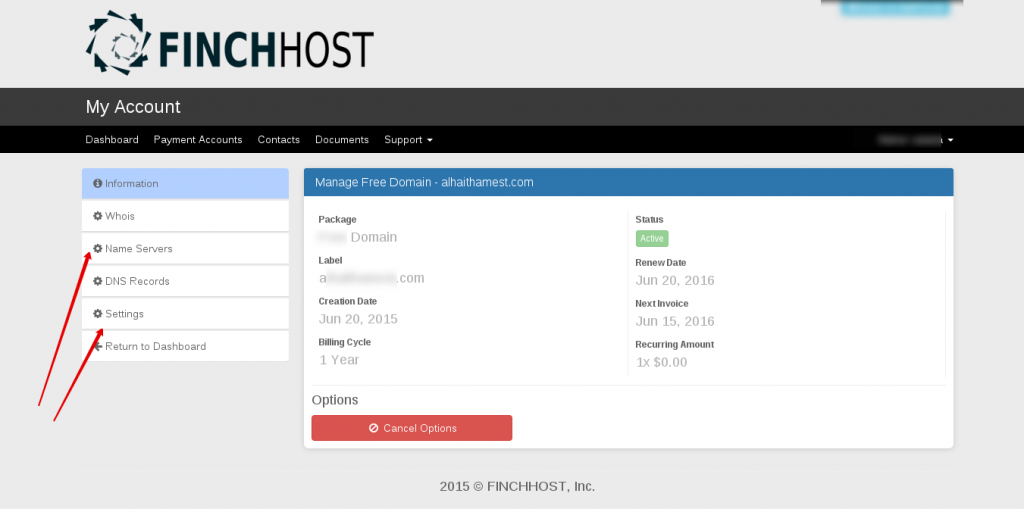 finch-host-domain-manage